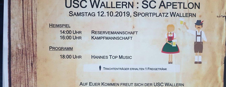 Oktoberfest nach dem Meisterschaftsspiel Wallern-Apetlon am 12.10.2019