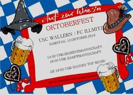 Oktoberfest USC Wallern am 13.10.2018 Spiel gegen Illmitz